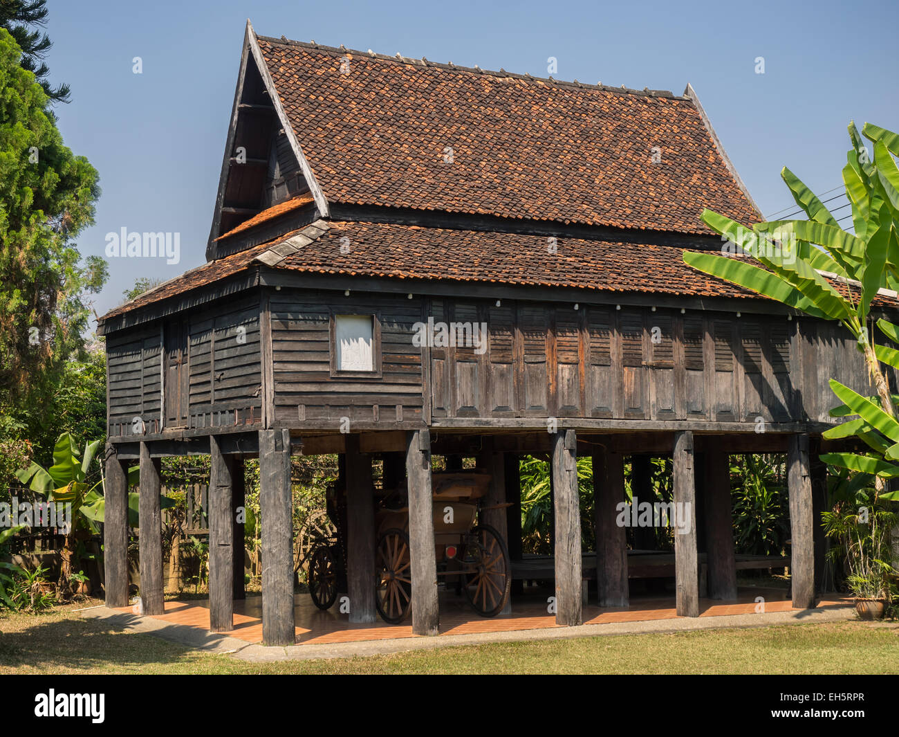 old traditional thai style house in lampang thailand