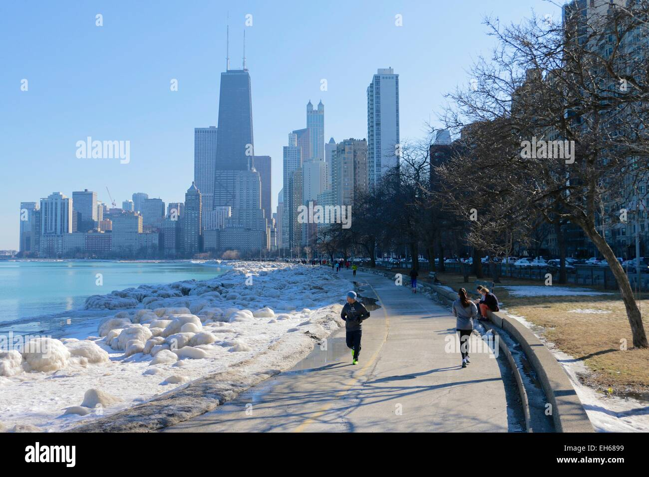 Chicago, USA. 7th March, 2015. US Weather: After over a ...