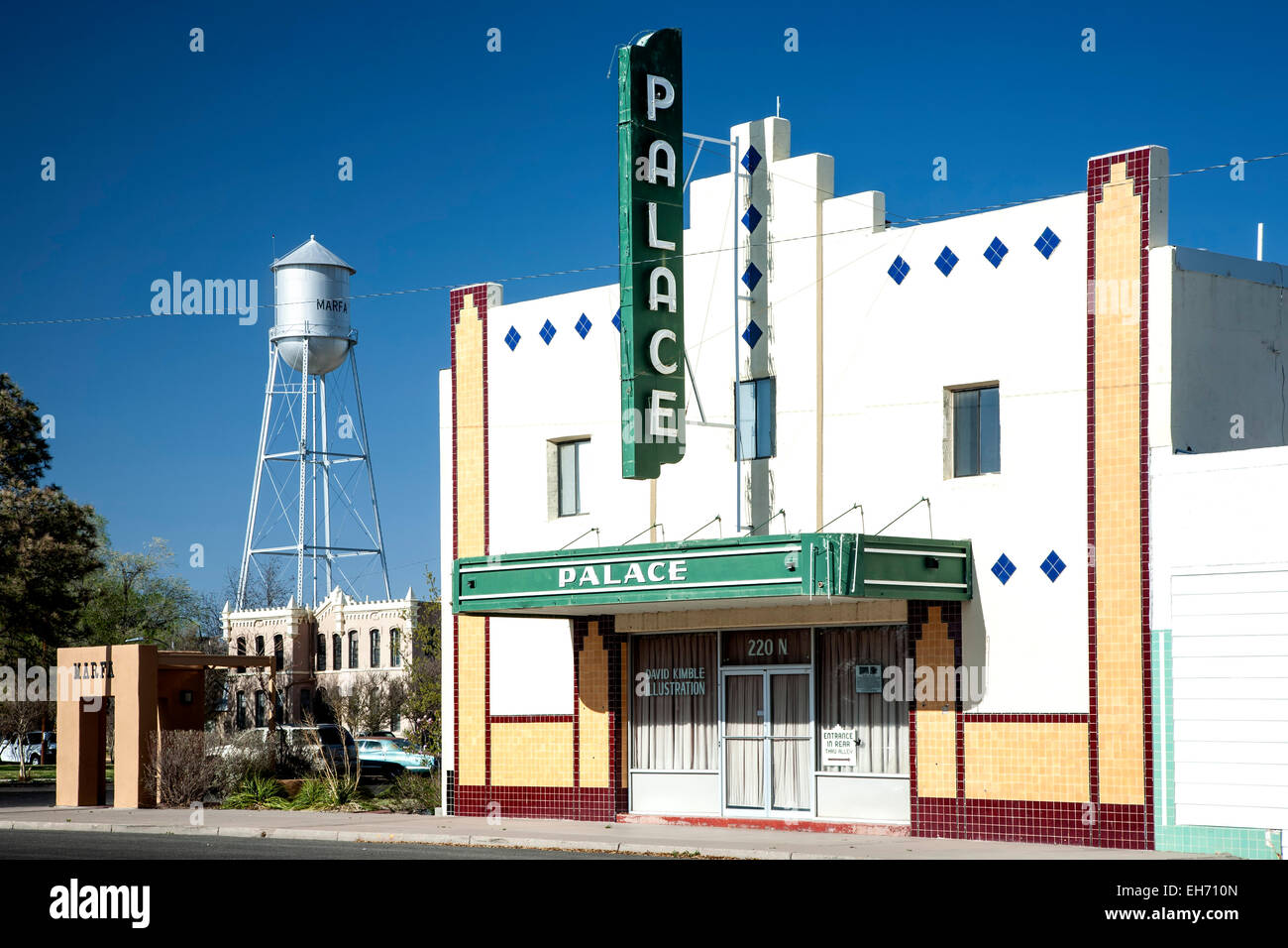 Water Tower Home Palace Theater 1905 Former Opera House And Water Tower Marfa