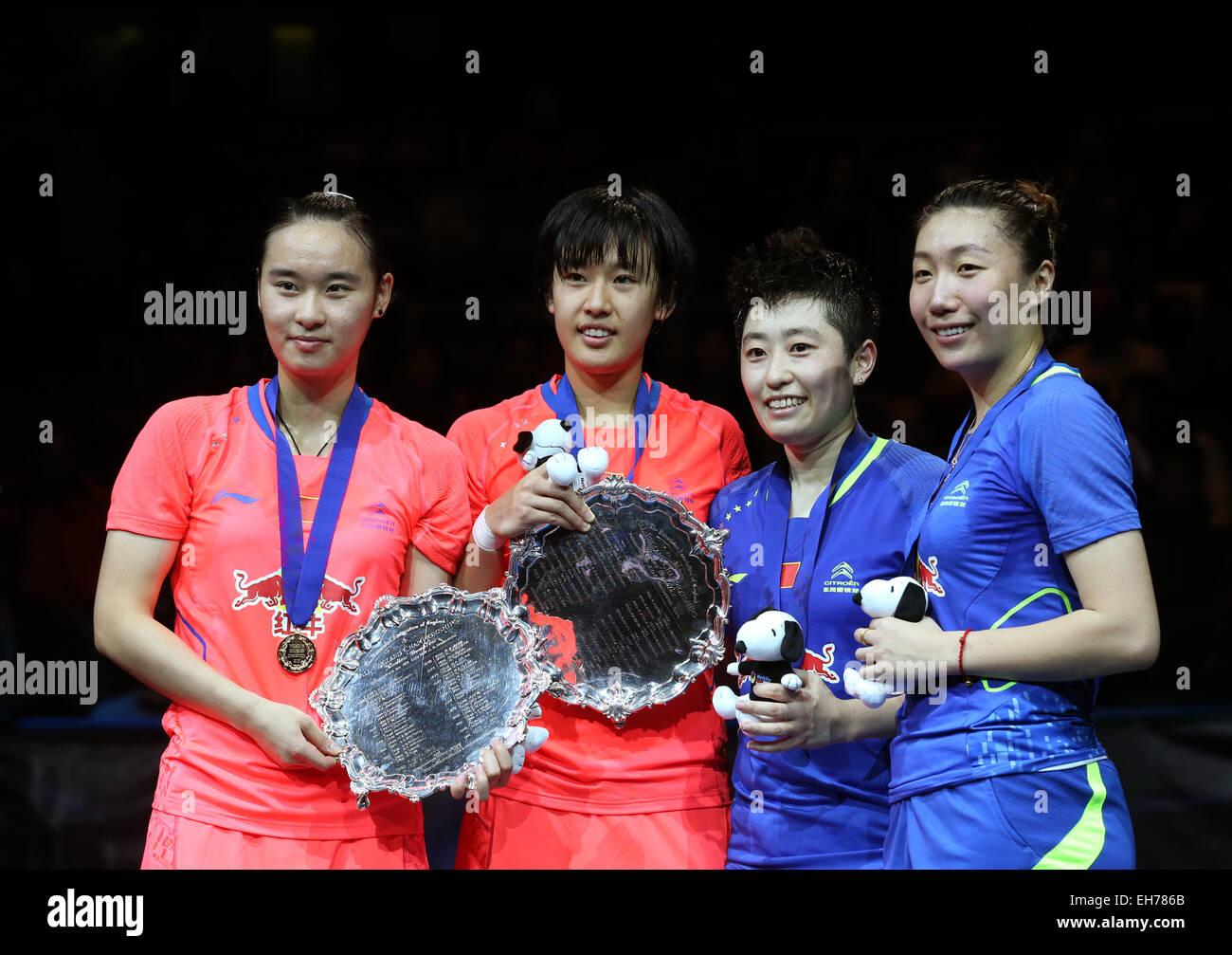 Birmingham UK 8th Mar 2015 Bao Yixin Tang Yuanting and Yu