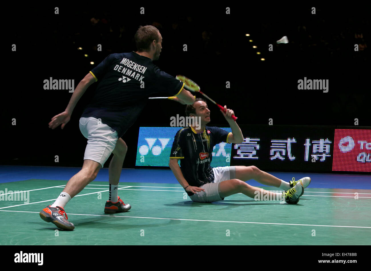 Birmingham Britain 8th Mar 2015 Mathias Boe R and Carsten