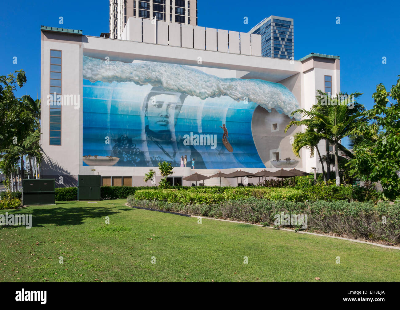 Famous wall mural known as mana nalu or spirit of the wave in famous wall mural known as mana nalu or spirit of the wave in honolulu oahu hawaii amipublicfo Image collections