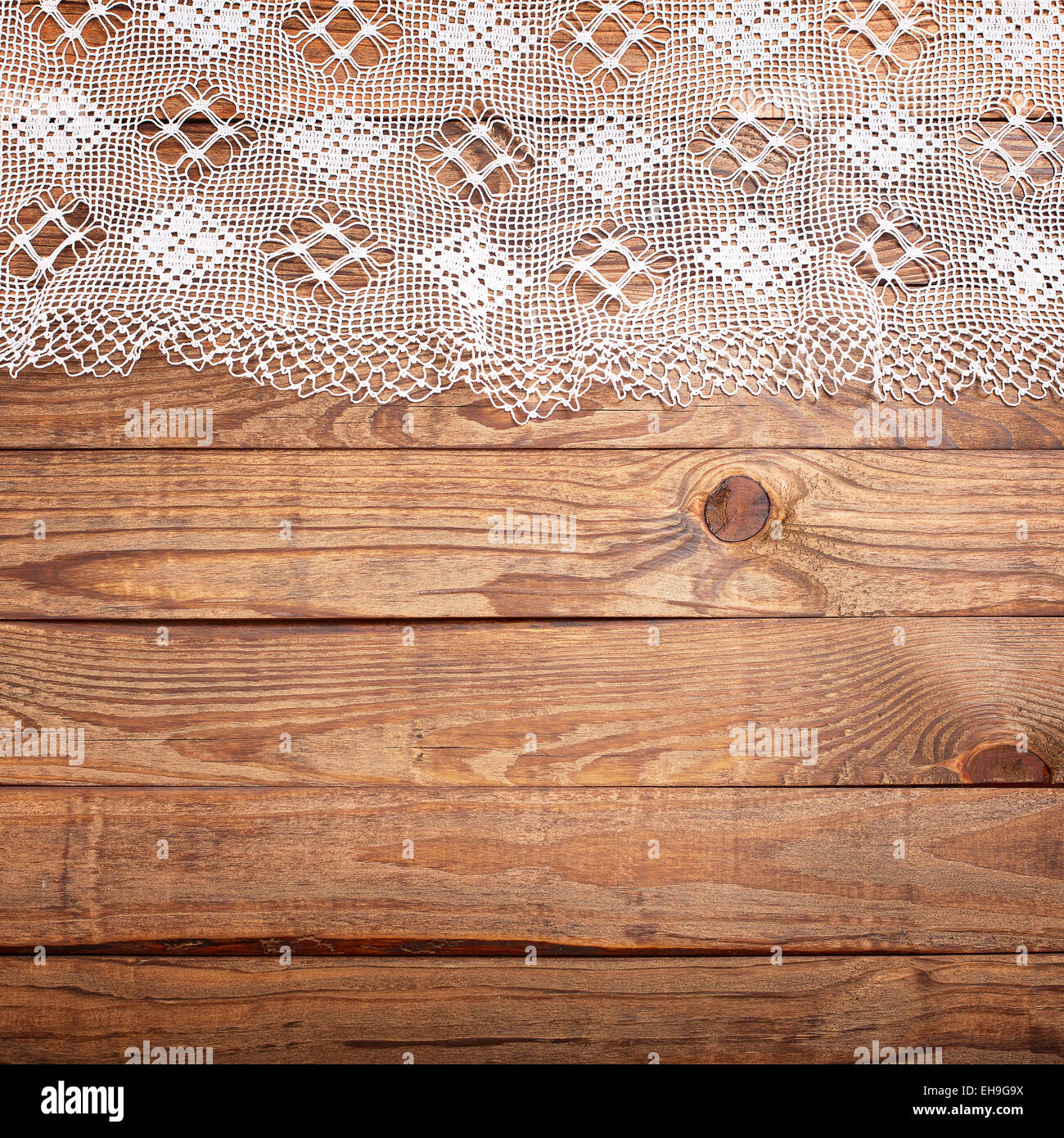 White wooden table texture - Stock Photo Wood Texture Wooden Table With White Lace Tablecloth Top View