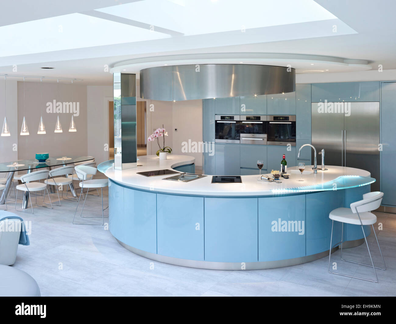 Modern Curved Kitchen Island kitchen curved island stock photos & kitchen curved island stock