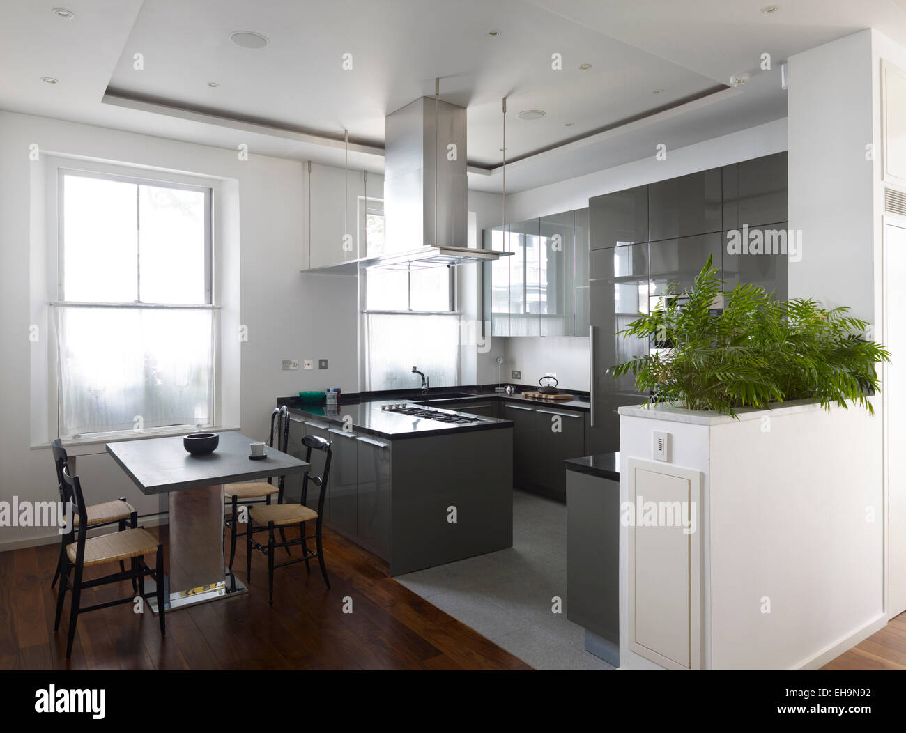 Modern Kitchen Extractor Fans kitchen island large extractor fan stock photos & kitchen island