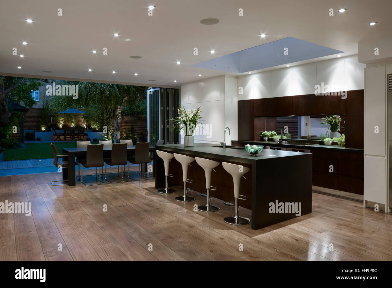 Garden To Kitchen View Of Kitchen Dining Room And Garden West London Villa London