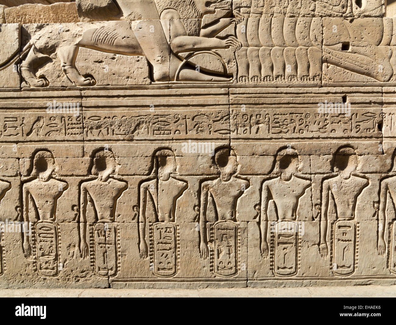 Reliefs In Outer Corridor Of The Temple Of Haroeris And