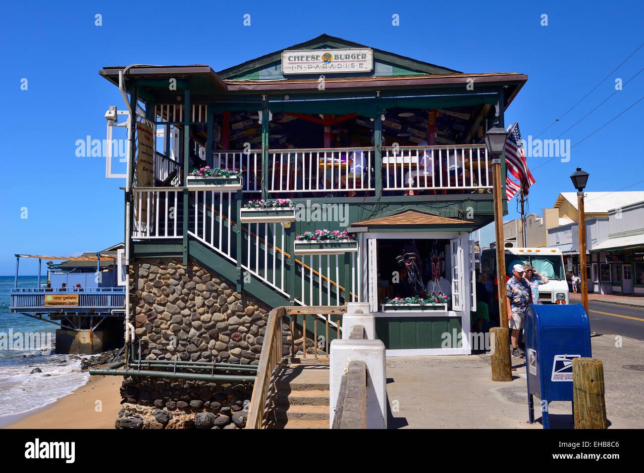 Image gallery lahaina restaurants for Maui fishing store