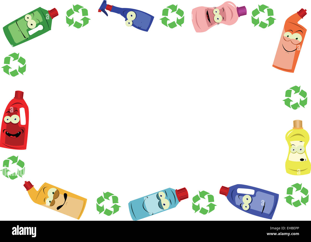 Funny Recycling Frame Stock Photo Royalty Free Image