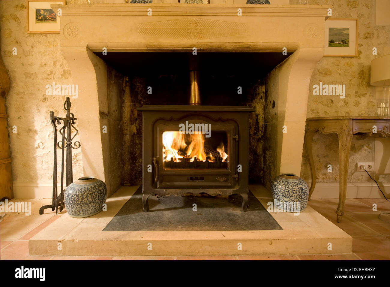 interior photograph of a country house with open fires country