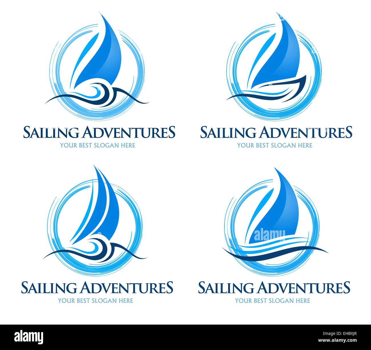 sailing boat logo creative vector design of a sailing