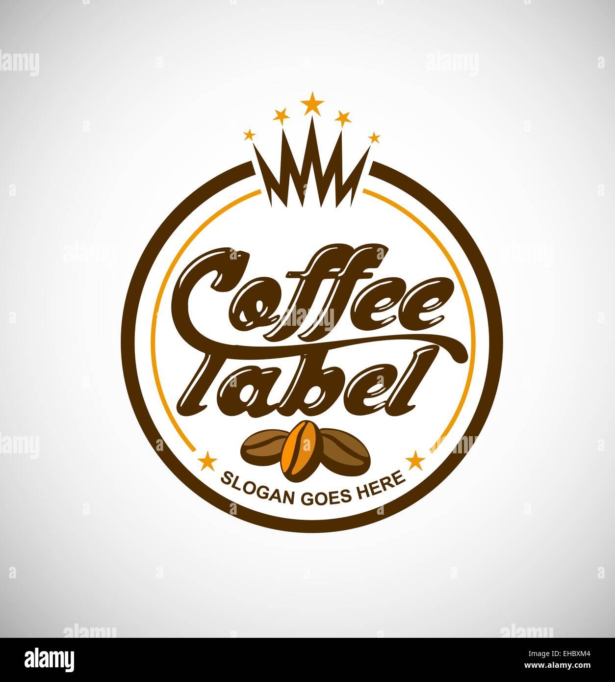 Coffee logo vector creative label for a a coffee business stock creative label for a a coffee business buycottarizona