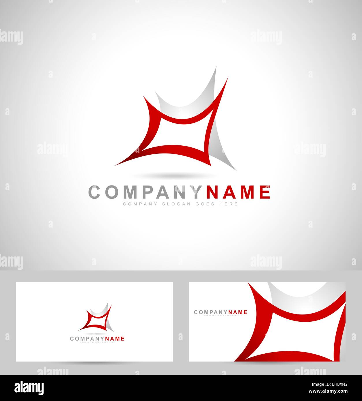 Abstract Creative Logo Web Design Company Logo And Business Card - Web design business cards templates