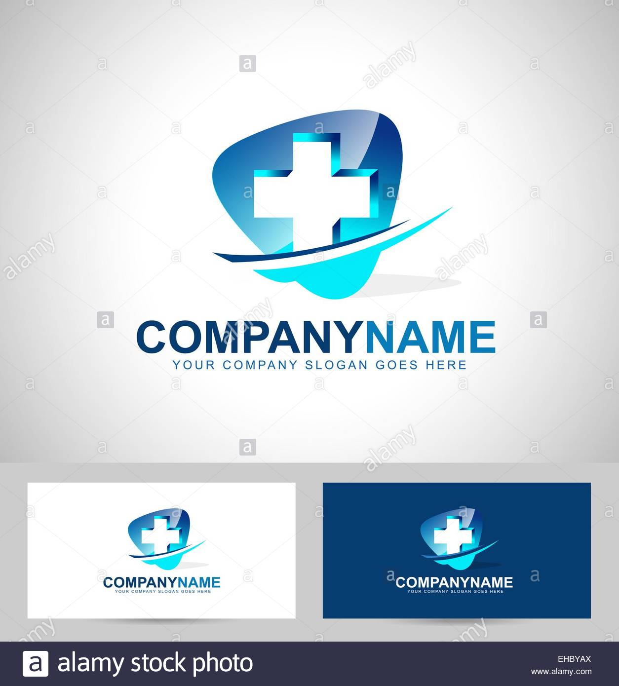 Medical Design Concept Hospital Vector Icon with business card – Medical Business Card Templates