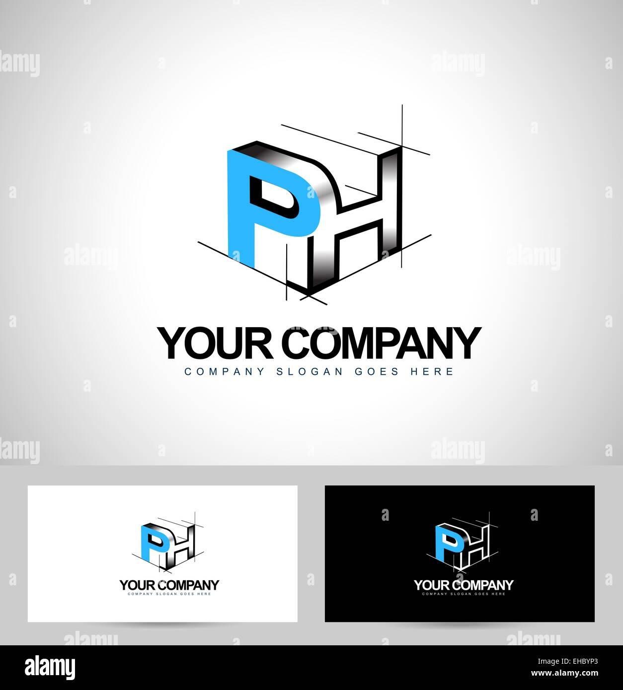 Ph Letters Logo Design. Creative PH Letters Icon with business ...