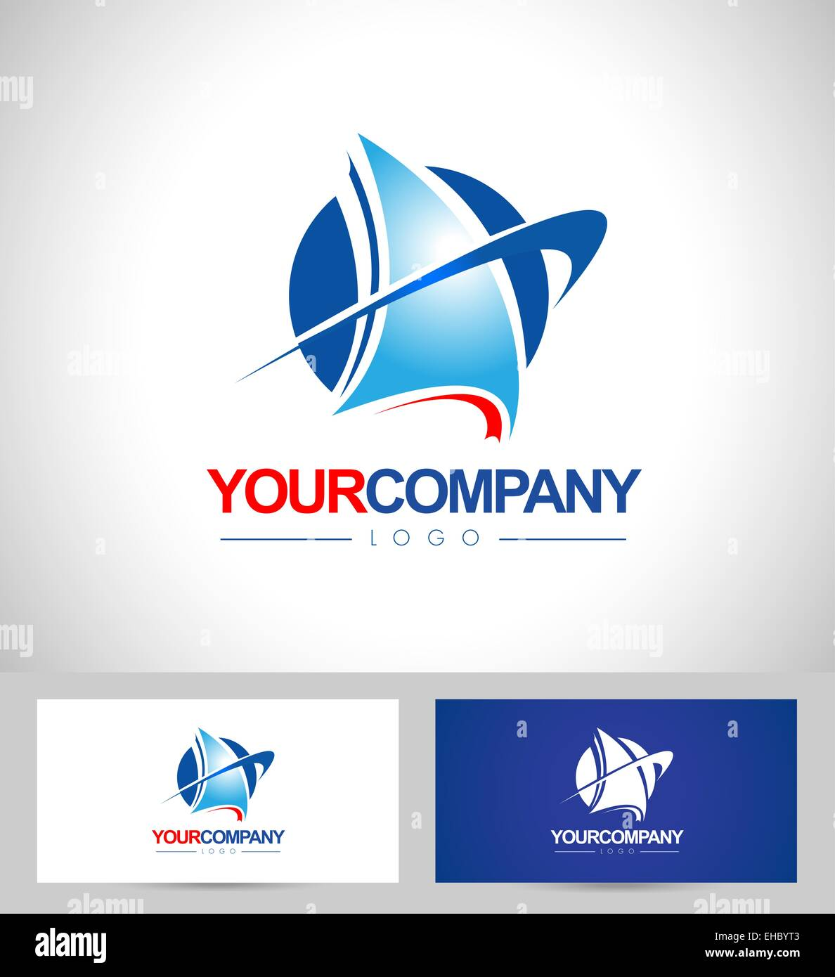 yacht boat logo design vector creative logo design of a boat with