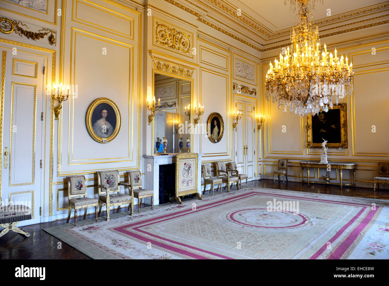 Excellent Stock Photo The Beautiful Interior Halls And Rooms Of The Royal  Palace In Brussels With Royal Palace Interior Design