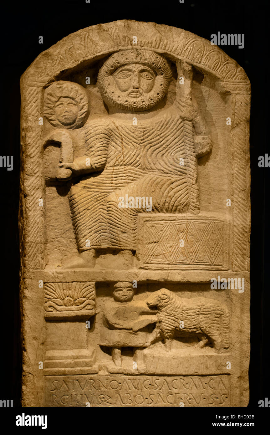 Punic Stele God Saturn Roman Carthage Elements From