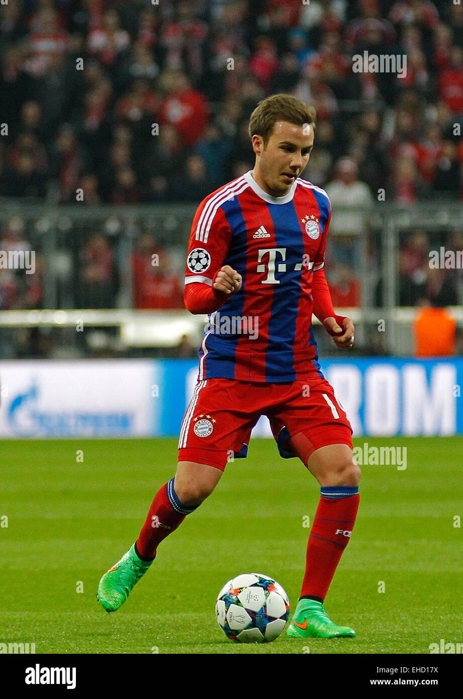 MUNICH GERMANY MARCH 11 Bayern Munich s midfielder Mario Gotze