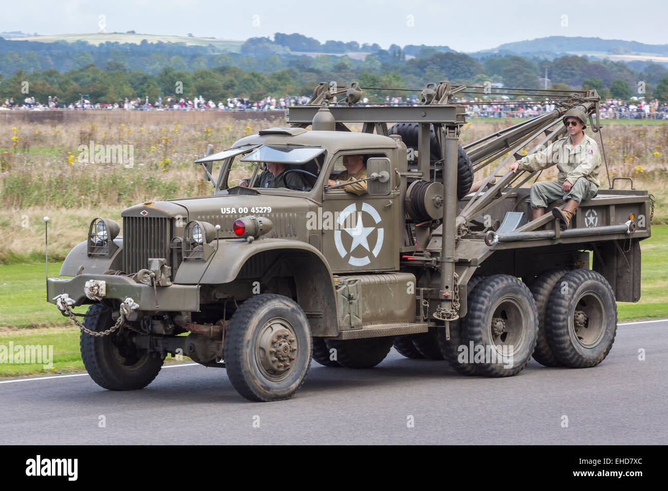Stock Photo 1941 Diamond T 969a Wrecker On Parade At The 2014 Goodwood Revival 79582228