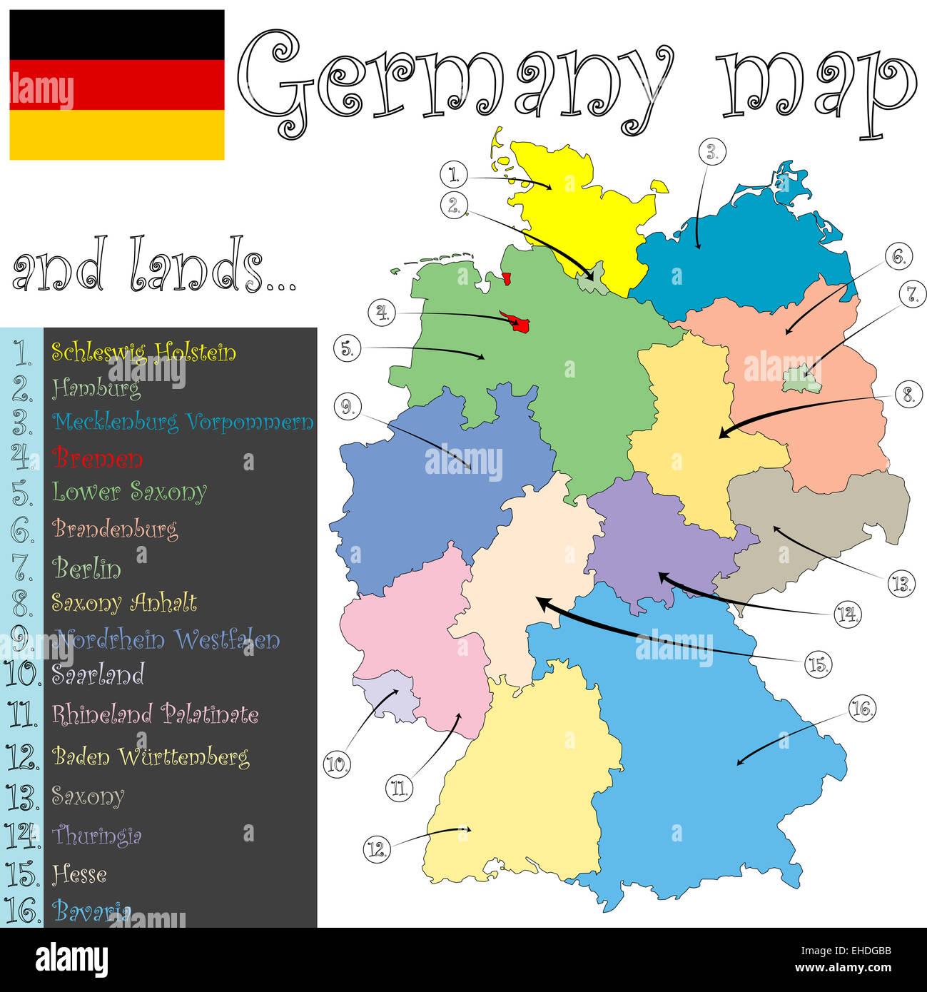 c8alamycompEHDGBBgermanymapandlandsEHD – Map of German Lander