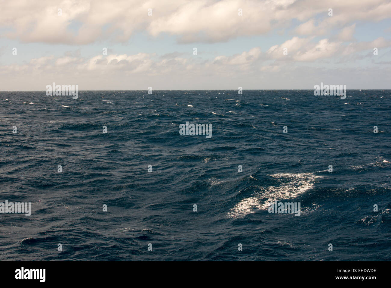 Windy weather in the South Atlantic Ocean some 600 ...