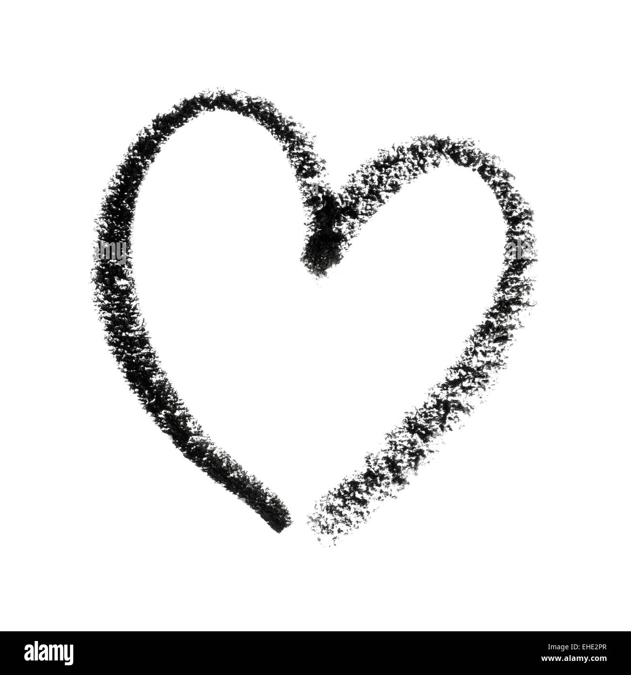 Painted heart symbol outline stock photo 79600159 alamy painted heart symbol outline buycottarizona Image collections