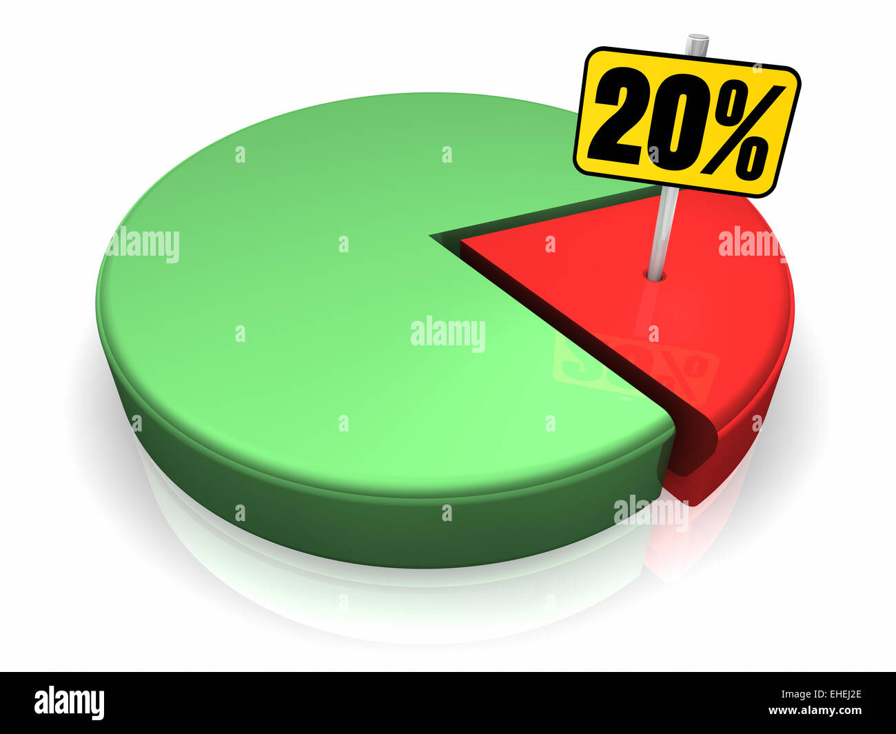 Pie chart 20 percent stock photo 79612134 alamy pie chart 20 percent nvjuhfo Image collections