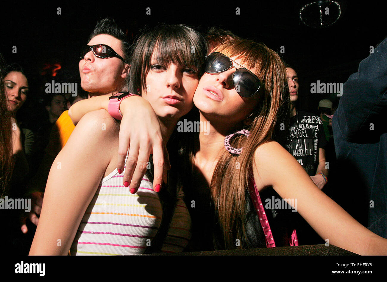 Clubbers at Kristal Glam Club in Bucharest Romania Stock Photo ...