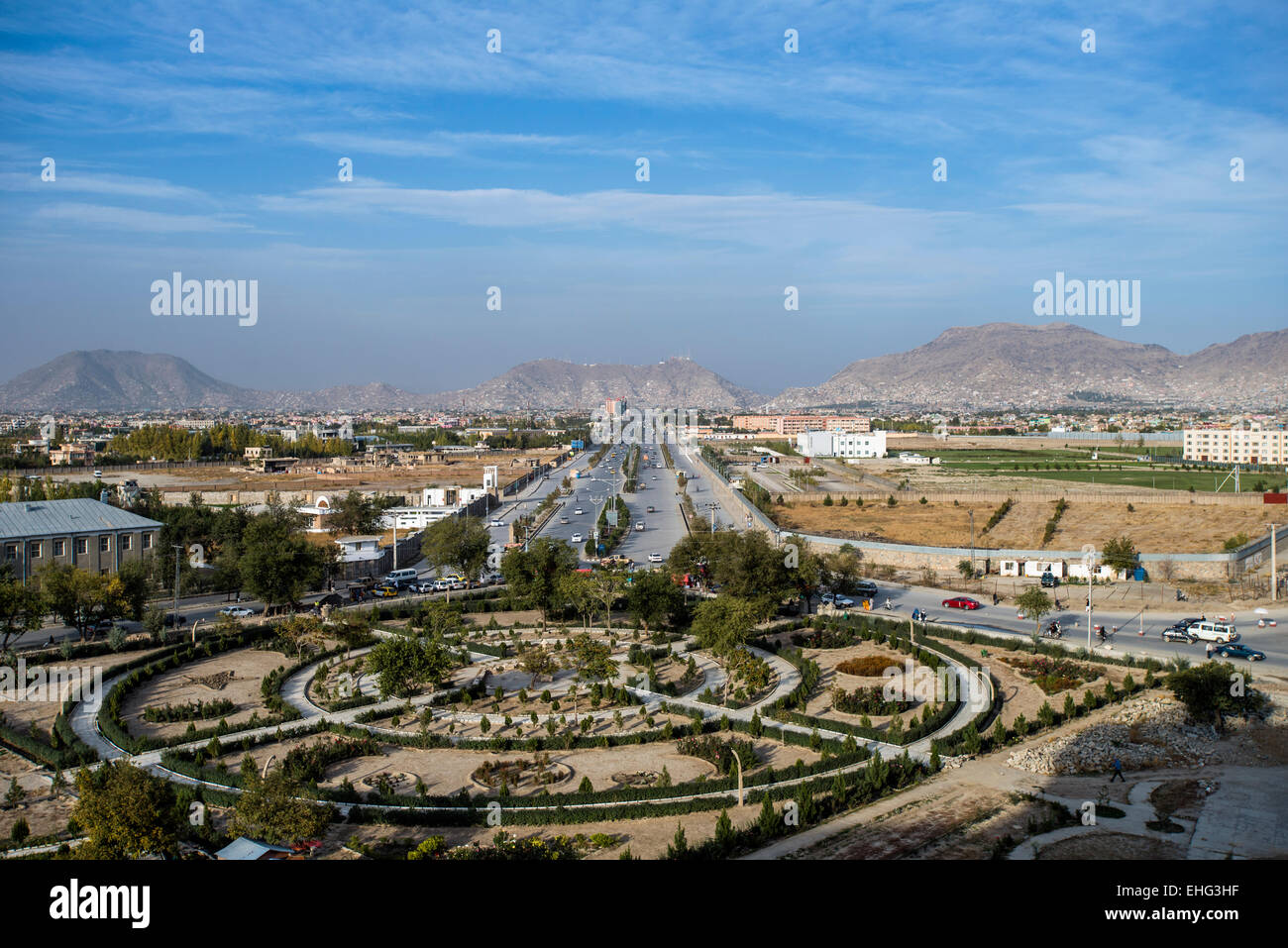 Newly Built Kabul City Landscape From Darul Aman Palace Kabul