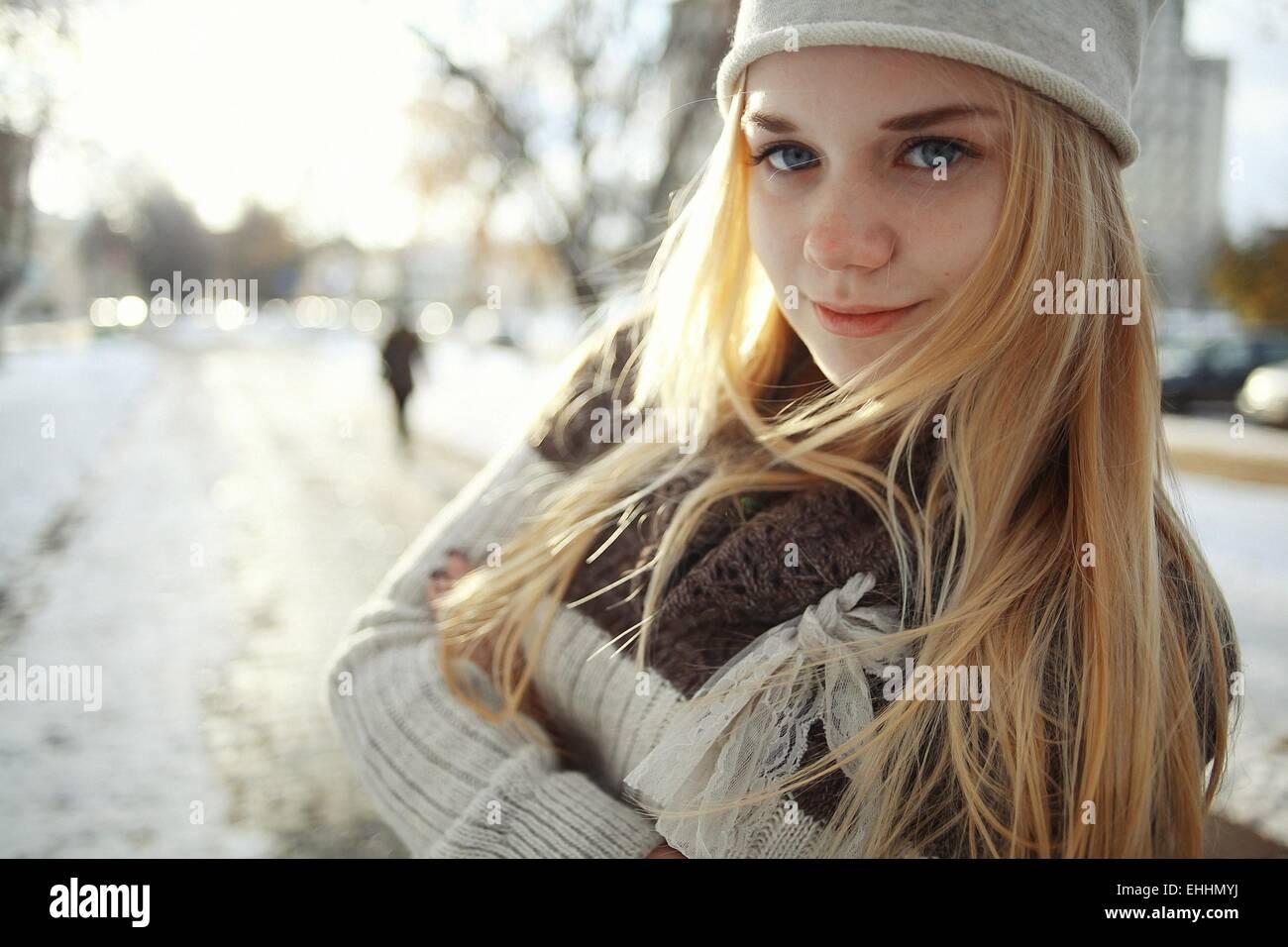 Blonde Teen In Fur 94