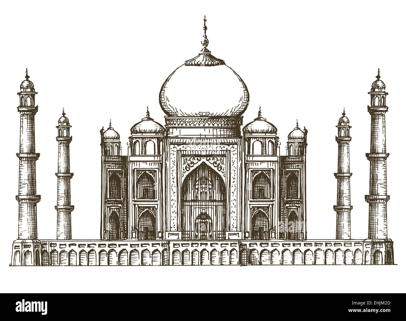 sketch of taj mahal in india worldwonders coloring pages. clipart ...