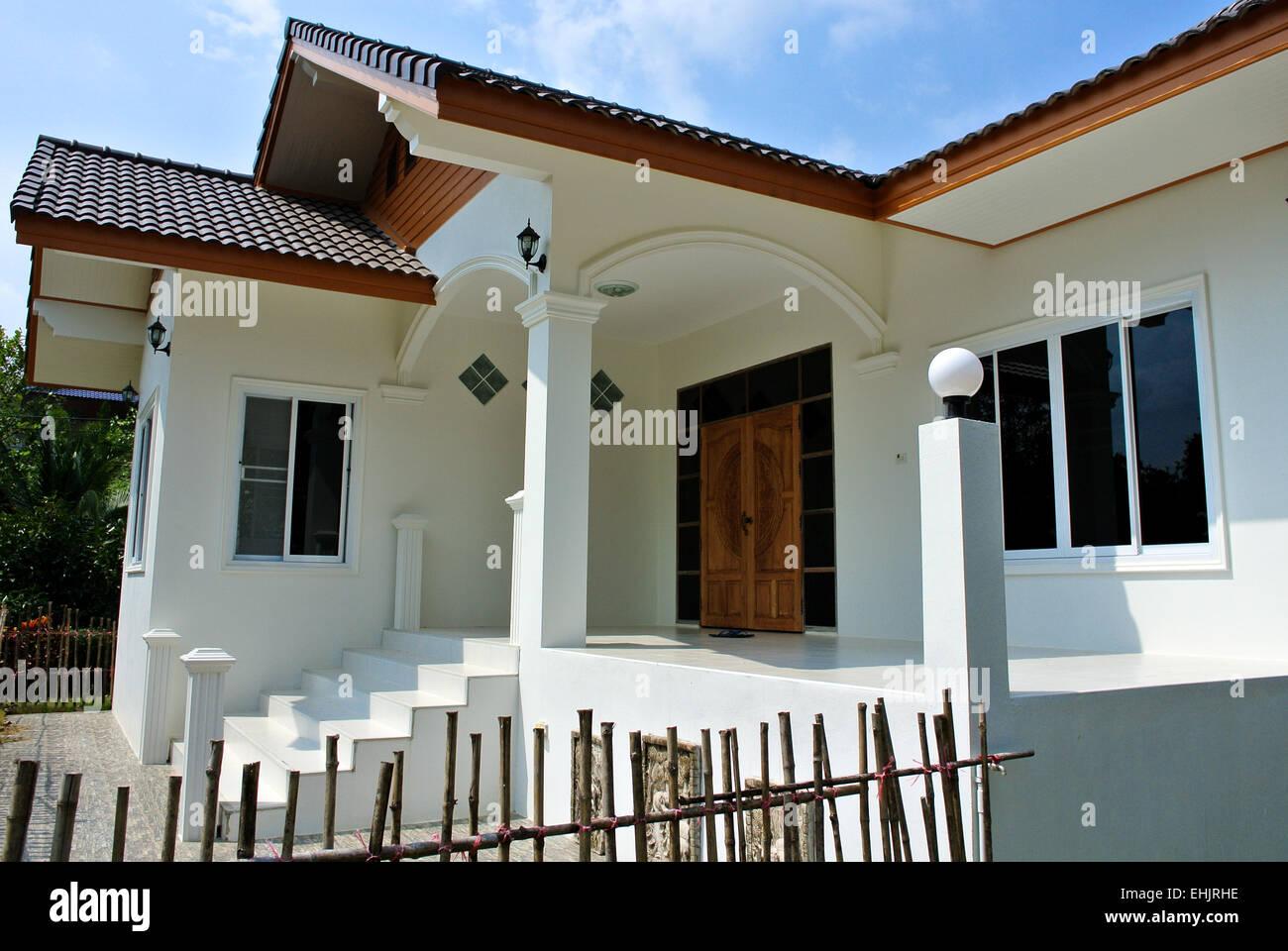 Modern Thai house bungalow Thailand Stock Photo Royalty Free