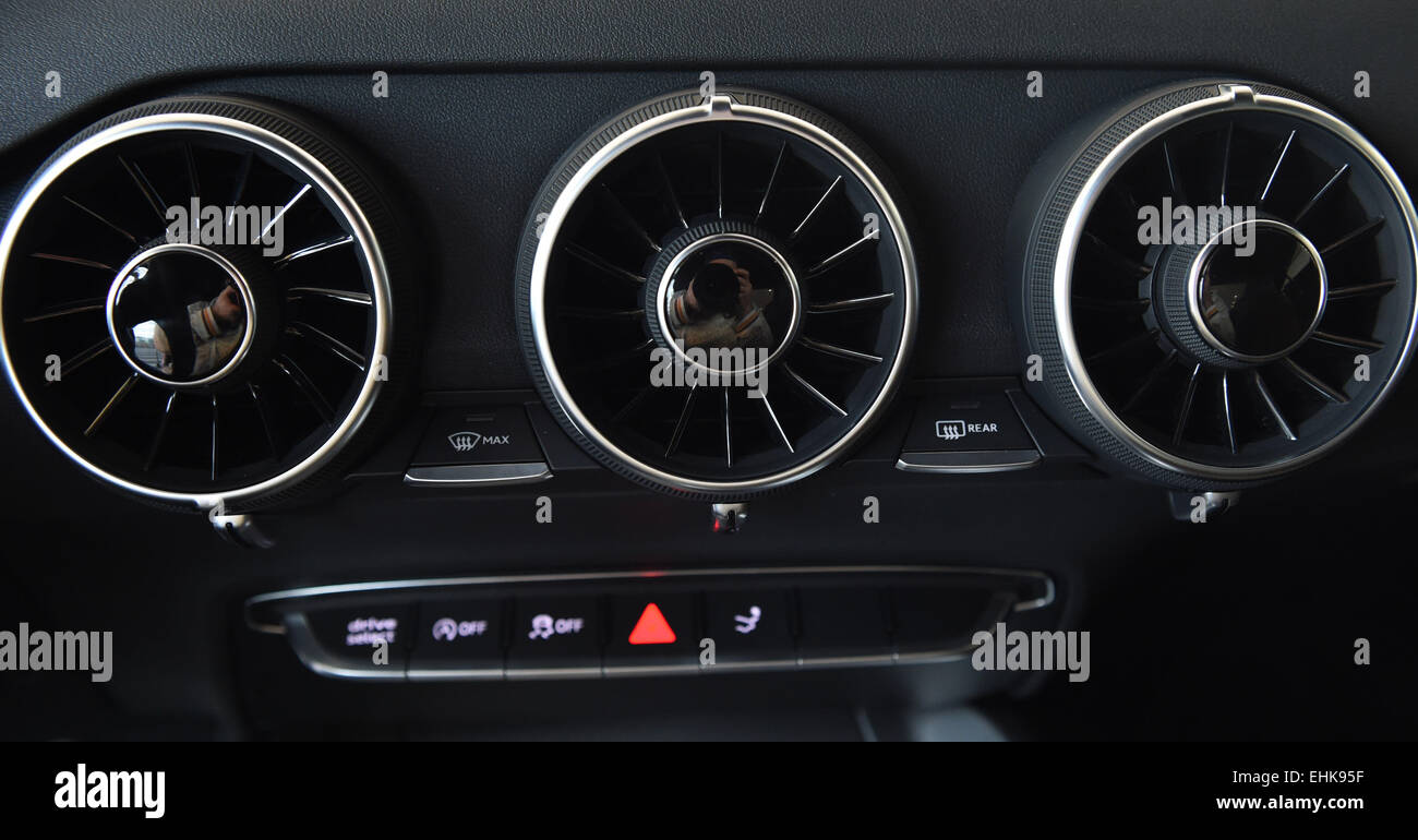 A View Of The Ventilation Slots Of An Audi TT Car Model Of Car - Anaudi
