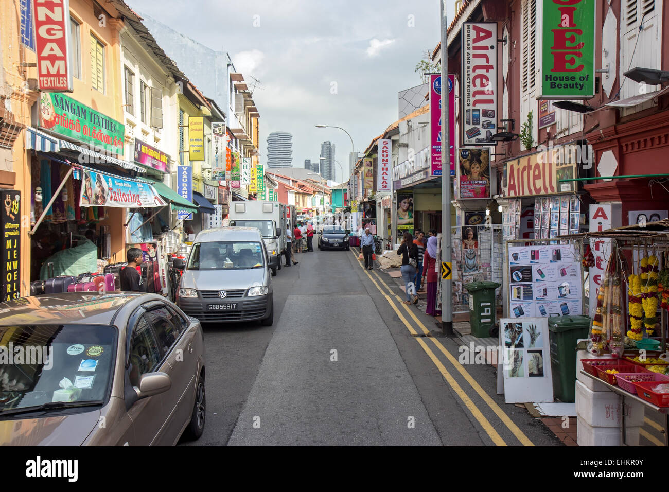 Shopping street in the little indian district in singapore for City indian dining ltd t a spice trader