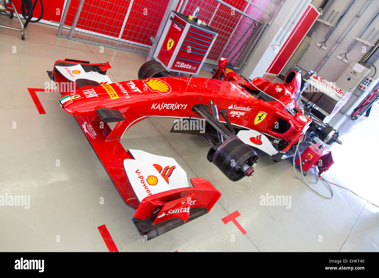istanbul turkey october 25 2014 f1 car garage ferrari