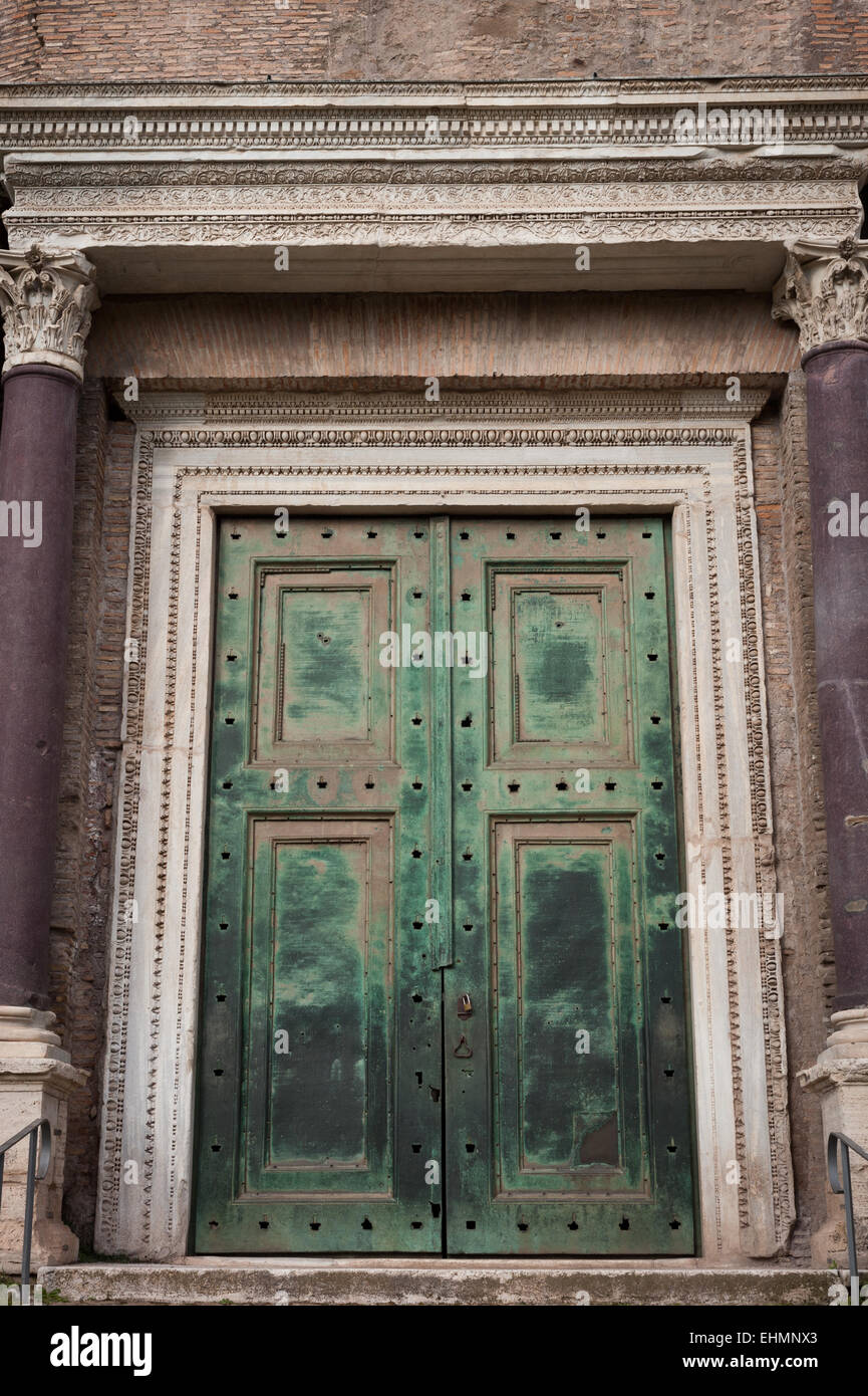 Stock Photo - The bronze doors of the Temple of Romulus in the Roman Forum Rome Lazio Italy & The bronze doors of the Temple of Romulus in the Roman Forum Rome ... Pezcame.Com