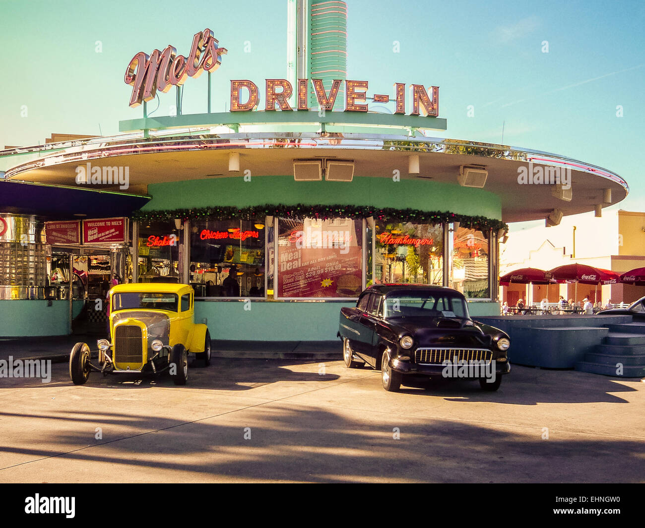 Street car diner drag racing art johnson 39 s art print hot for Diner artwork