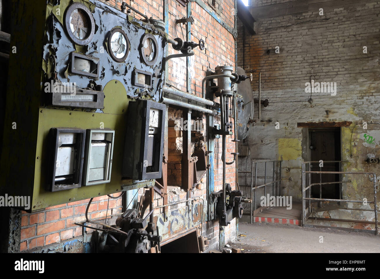 Old Boiler House In A Disused Factory Stock Photo Royalty