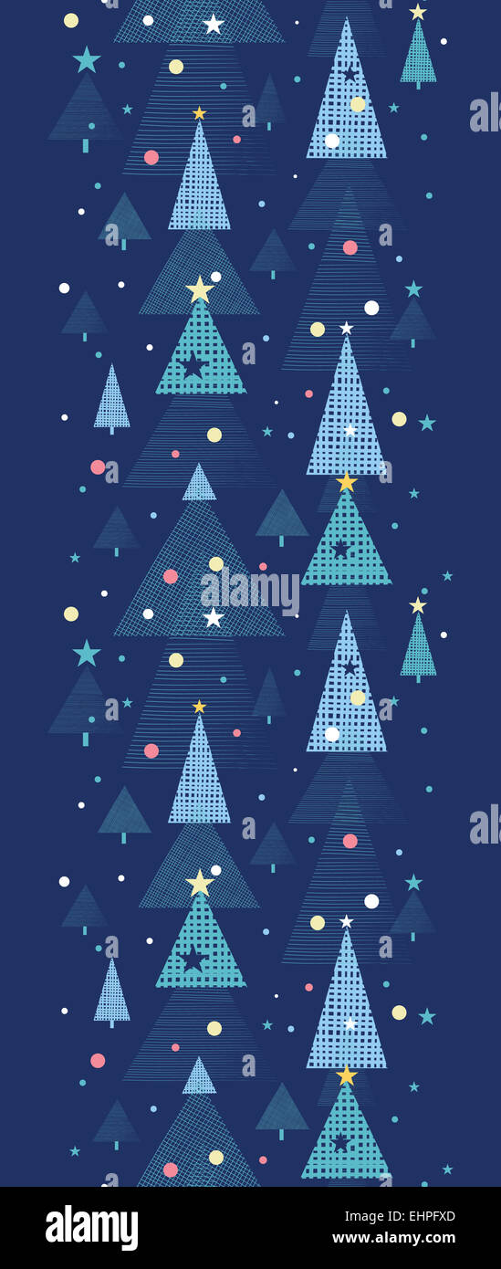 Abstract Holiday Christmas Trees Vertical Seamless Pattern Background