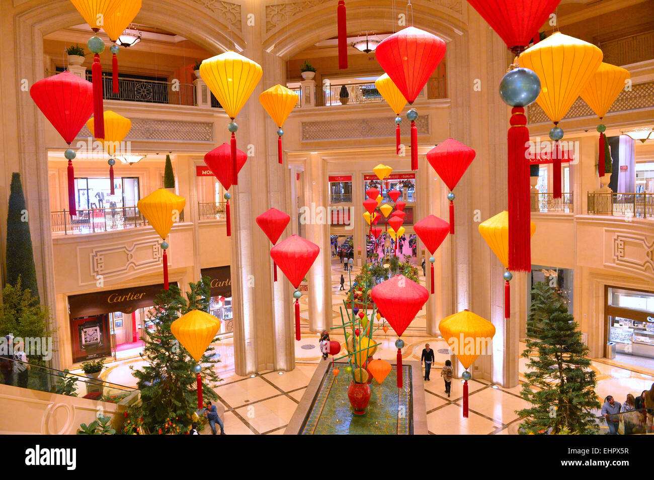 chinese new year decorations at the venetian hotel casino in las vegas - Orange Hotel Decoration