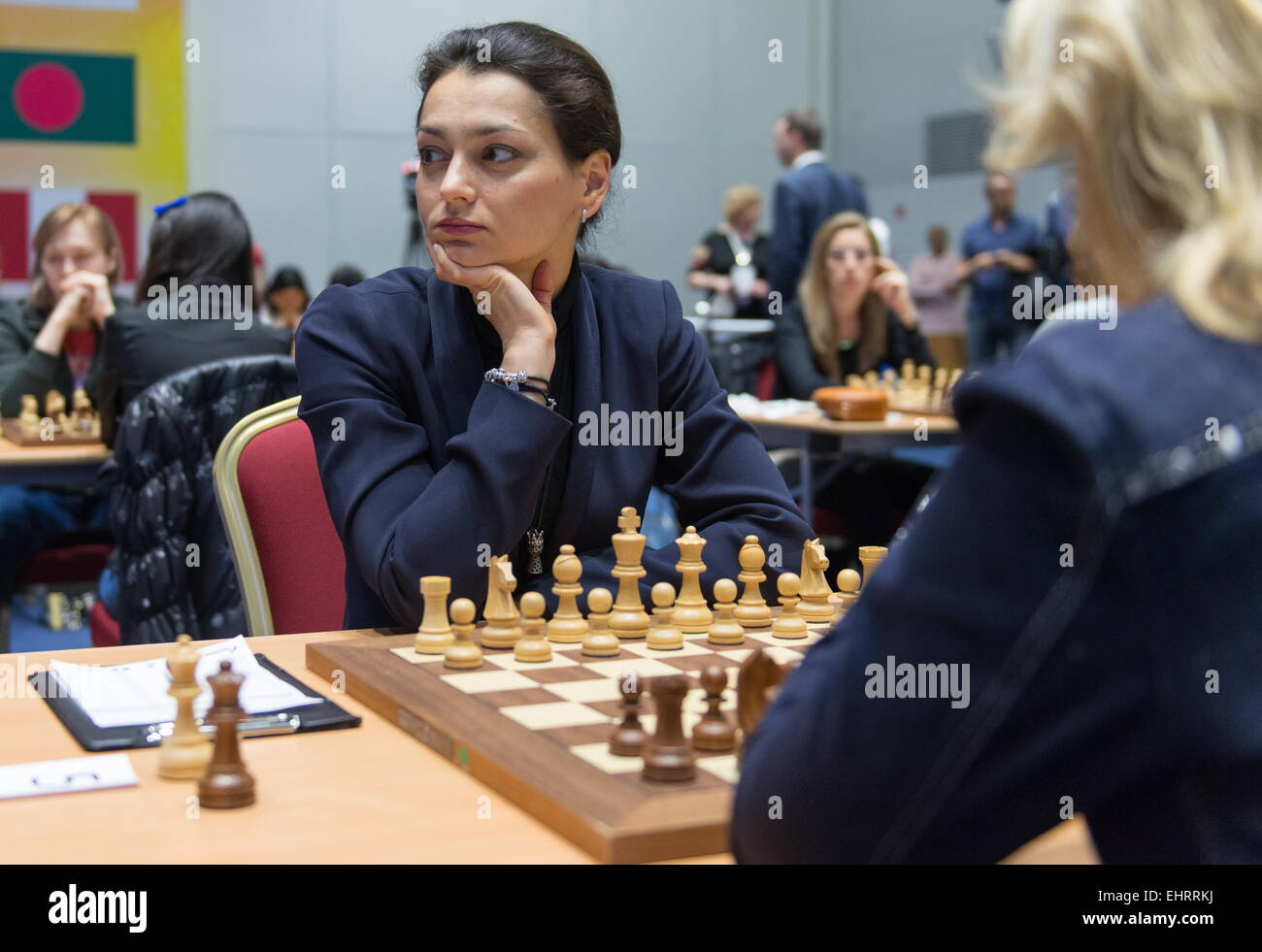 Sochi Russia 17th March 2015 Former Women 39 S World Chess Champion Stock Photo Royalty Free