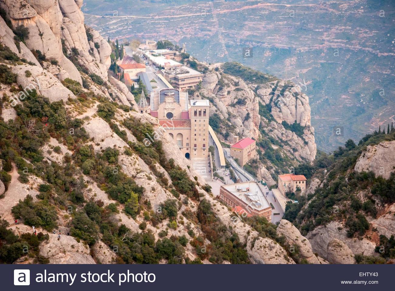 monastery of montserrat near barcelona spain stock photo