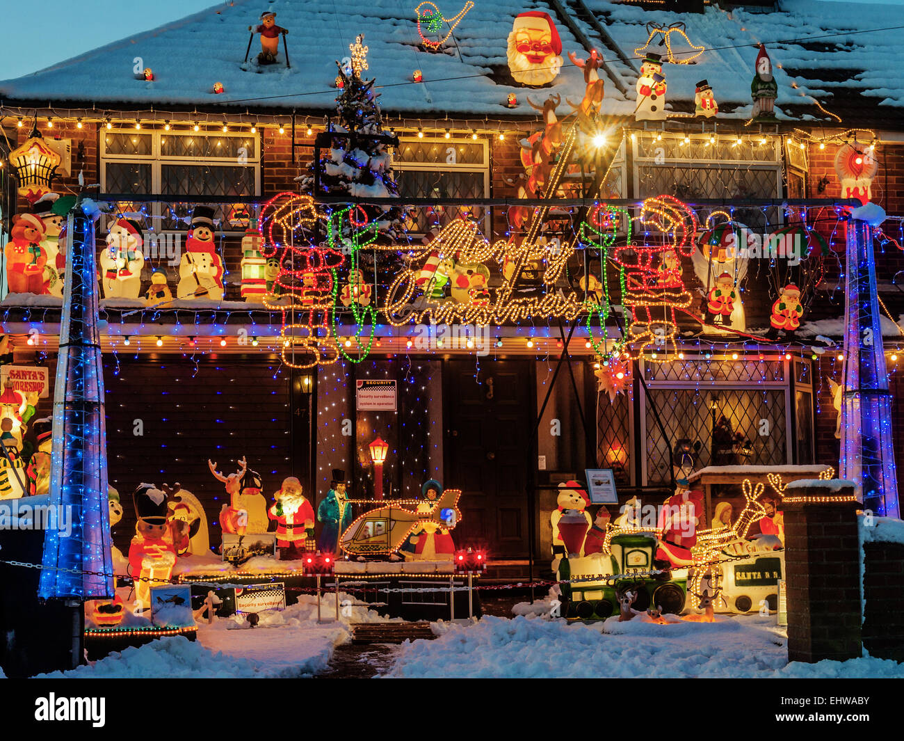 Christmas Decorations Berlkshire UK Stock Photo Royalty Free