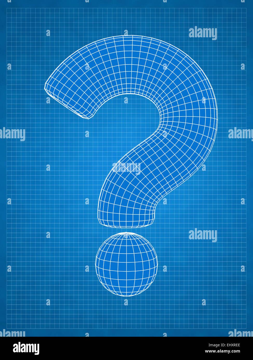 Blueprint question mark idea concept stock photo royalty free blueprint question mark idea concept malvernweather Choice Image