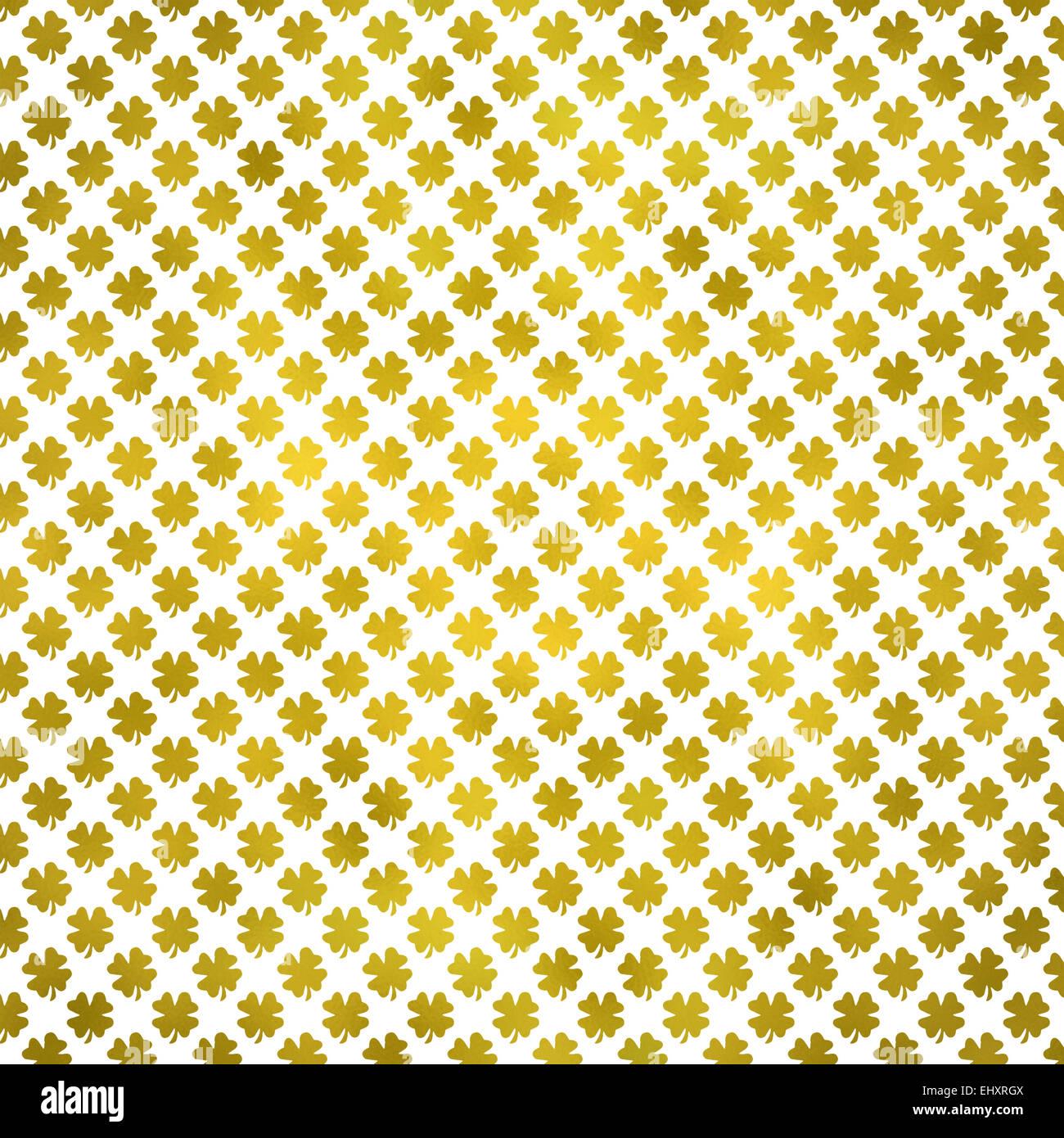 irish shamrock four leaf clover st patrick u0027s day gold metallic