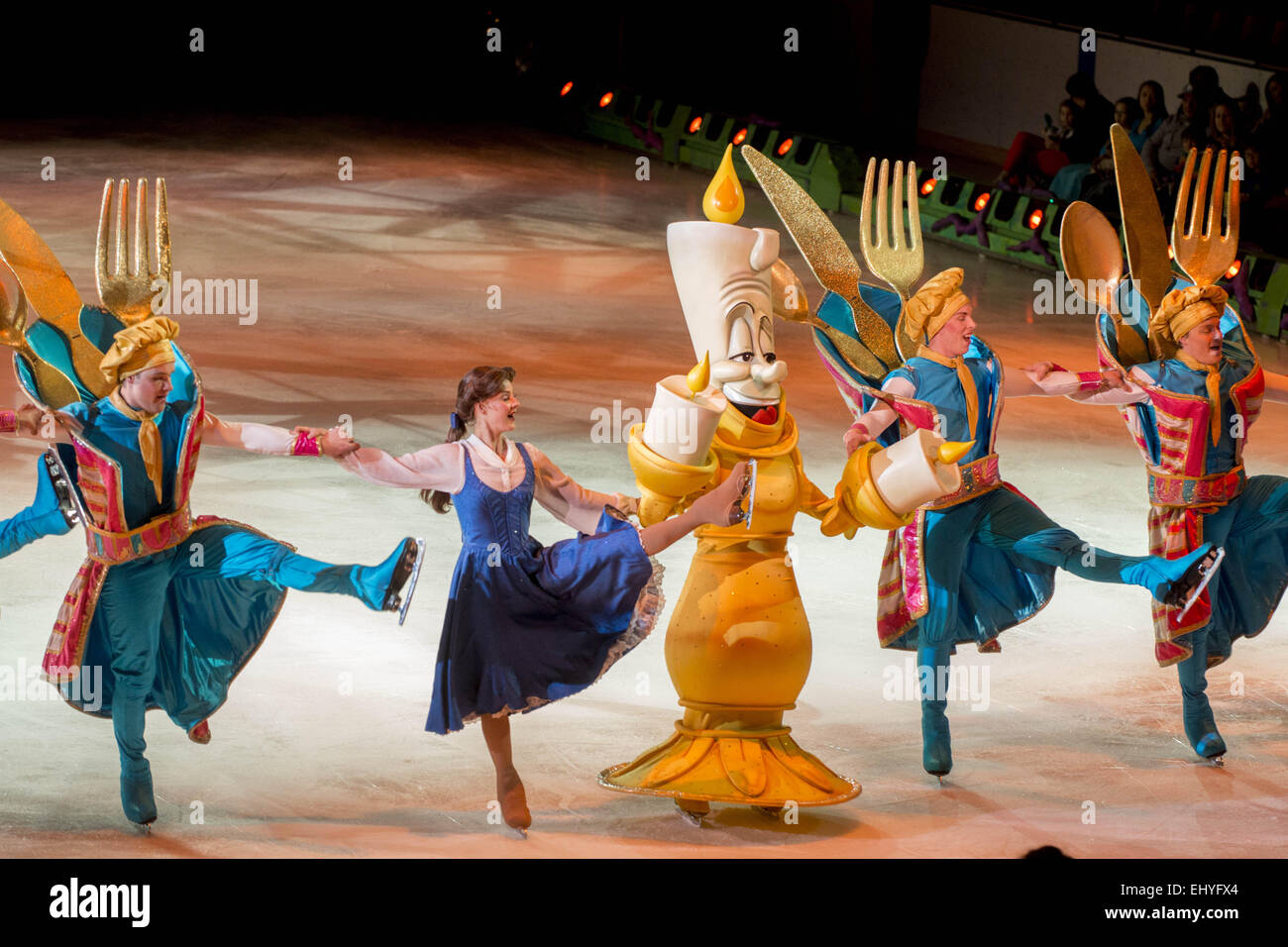 Lumiere And Belle Of Beauty The Beast Dance Their Way Through Be Our Guest In Disney On Ice Presents Princesses Heroes Calgary