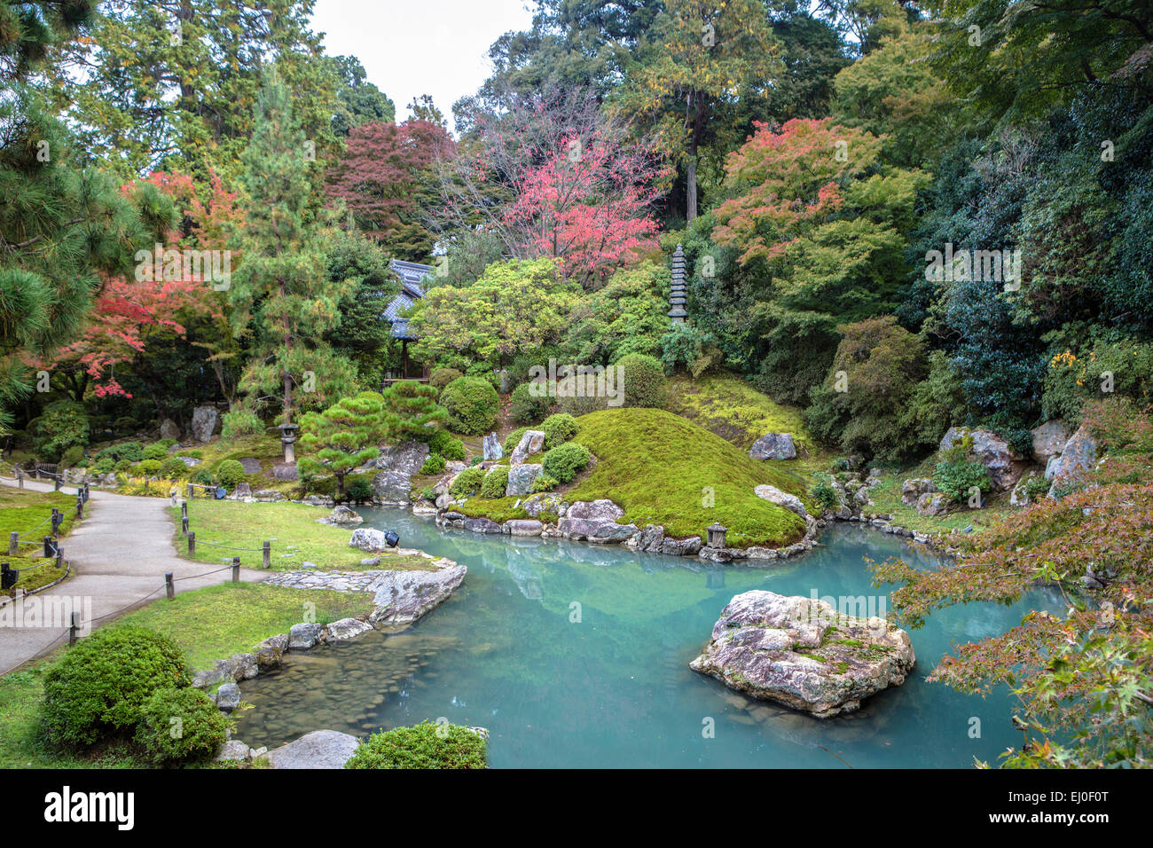 Japan, Asia, Kansai, Kyoto, Japanese, Landscape, Shoren In, Temple,  Architecture, Colourful, Cute, Fall, Garden, Green, Momiji, N
