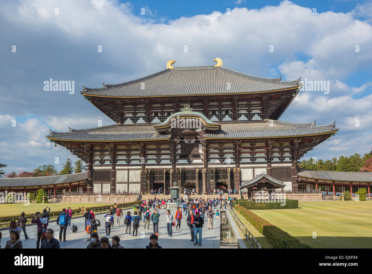 World Heritage, City, Japan, Asia, Kansai, Landscape, Nara, Temple,  Todai Ji, Architecture, Big, Daibutsu, Fall, History, Religio