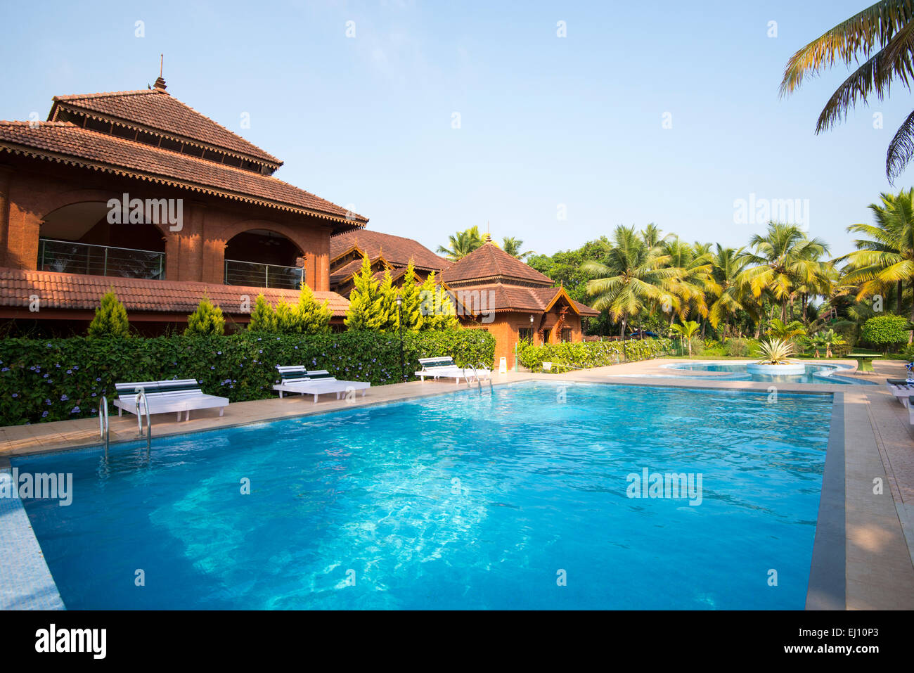Outdoor Swimming Pool At The Eastend Lakesong Resort In Kumarakom Stock Photo 79927851 Alamy